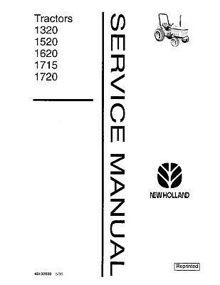 FORD 1715 TRACTOR Service Repair Manual Set Owners