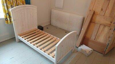 Mothercare Westbury Cot Bed Solid Pine With Removable Sides Mattress