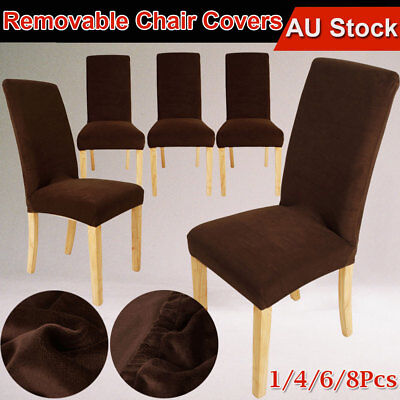 dining chair covers brisbane antique living room styles short stretch cover cloth seat protector slipcover super fit slipcovers machine washable 1 4 6