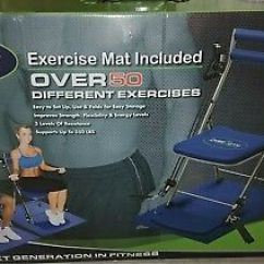 Gym Chair As Seen On Tv Smarte Carte Massage Chairs Total Body Workout Brand New 79 99 50 Different Exercises Blue