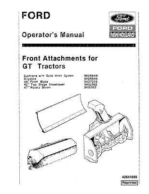 FORD NEW HOLLAND GT20 GT22 Garden Lawn Tractor Operators