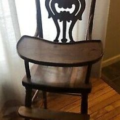 Wooden High Chairs For Babies Crate And Barrel Canada Antique Vintage Chair Baby Or Doll 99 00 Picclick