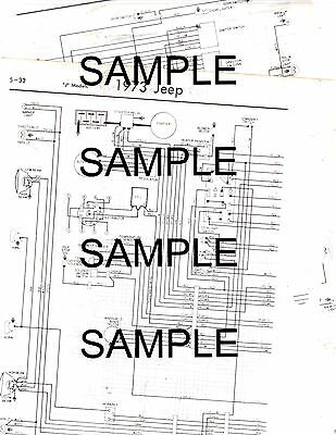 1967 JEEP CJ-5A Cj-6A 4 Cyl 67 Wiring Guide Chart Diagram