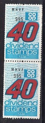 GB = `CO-OP DIVIDEND` 2 x 40 Unit Savings Stamps. MNH. Not now given. (a)