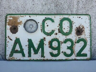 Old Agriculture License Plate Oldtimer Tractor Bulldog Co From 932