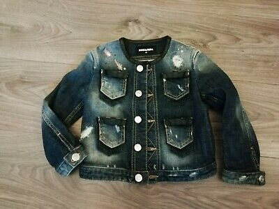 Desquared denim jacket girl 6 years 116 luxury like new