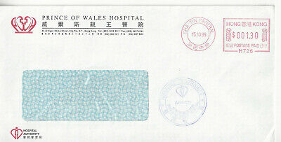 H0Ng Kong 1999 Hospital Authy Window Cover With Sha Tin Central Meter Cancel