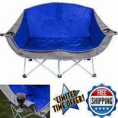 2 Person Camping Chair Bedroom Perth Folding Love Seat Ozark Trail Portable Outdoor Furniture