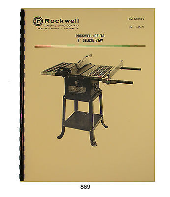 Rockwell Model 9 Table Saw