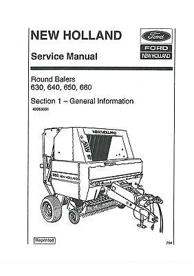 New Holland 650 Round Baler Parts Manual. Diagrams. Wiring