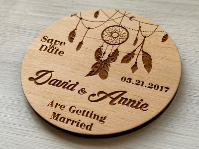 Save The Date Magnets Rustic Wedding Boho