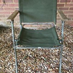 Folding Chair Job Lot Posture Stool Uk 7x Land Rover Canvas Auction Military Army Surplus Ex Mod No 4