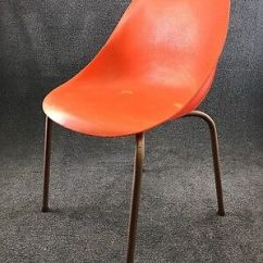 Mid Century Modern Plastic Chairs Hickory Chair Company Snyder Molded In Orange 74 99