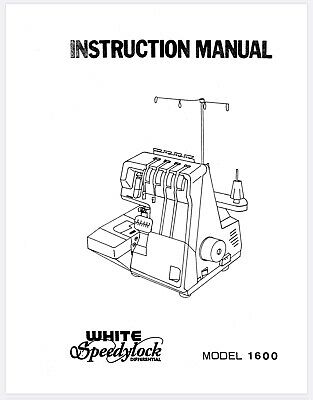 INSTRUCTION MANUAL BOOK For Serger Simplicity Easylock 804