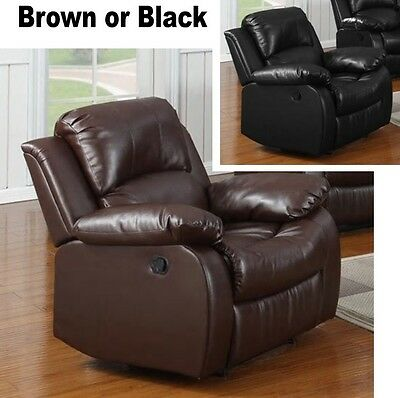 arm chair rocker pvc folding lounge brown black leather recliners armchair recliner large chairs