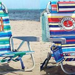 Tommy Bahama Backpack Cooler Chair Blue Reclining Garden Chairs Morrisons Beach Green Floral 2 Pack