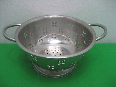 kitchen colander marble table stainless steel strainer drainer food rice pasta handles