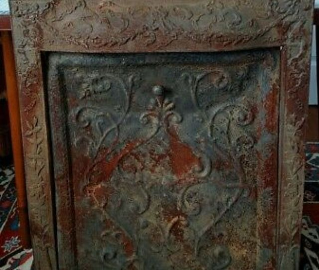 Antique Iron Victorian Fireplace Surround Insert Summer Cover