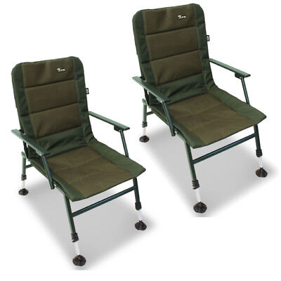 fishing chair with arms ghost replica chairs 2 x ngt xpr carp coarse arm rests extendable mud feet