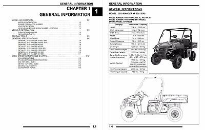 2012 Polaris Ranger Xp 800 Maintenance Manual