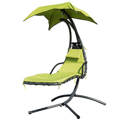 hanging hammock lounge chair mission style morris chaise outdoor swing w arc stand air porch steel
