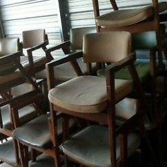 Wh Gunlocke Chair Antique Birthing Lot Of 24 Vintage Mid Century Danish Floating Arm W H Co