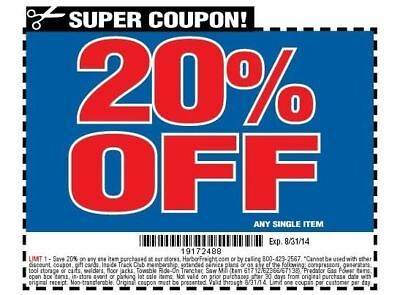 Harbor Freight 20 Off Coupon 2018