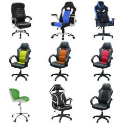 Office Chair High Seat Desk Used Multi Types Colors Back Soft Pad Cushioned Adjustable Uk