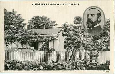 Gettysburg ~ General MEADE'S Headquarters ~ Postcard 19269