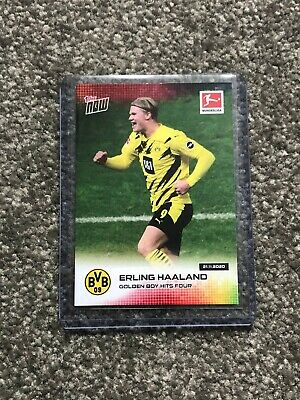 Topps Now Erling Haaland Golden Boy Hits Four #044