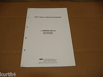 1971 ford truck l-series haul l700 wiring diagram sheet service