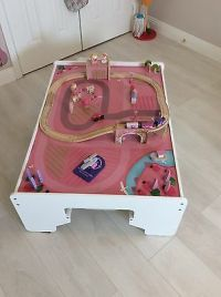 ELC Wooden Reversible train set table  58.00 - PicClick UK