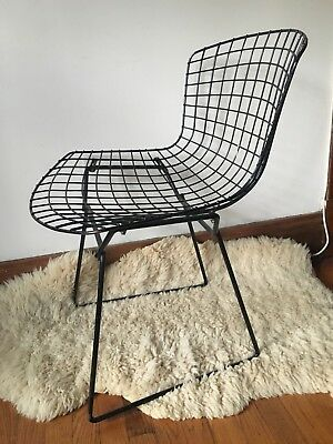 bertoia side chair wedding covers and bows south wales original vintage authentic harry knoll black