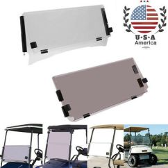 Ezgo Windshield Bmw E61 Wiring Diagram Tinted Fold Down Golf Cart For Txt 1995 2013 Clear Folding Brand New Transparent