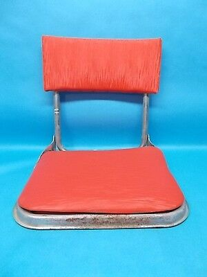 fishing chair clamps british colonial and ottoman vintage boat seats stadium blue bleacher folding with metal seat red vinyl