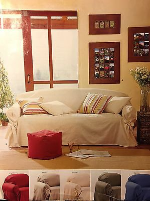 loose fit slipcovers for chairs outdoor metal mesh folding pottery barn tie arm slipcover small sofa cranberry red twill