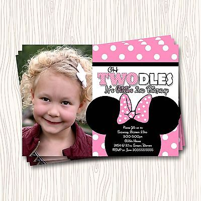 2nd birthday minnie mouse two grey