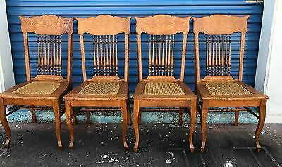 sikes chair company unfinished oak chairs antique set of 4 co buffalo new york quarter sawn tiger