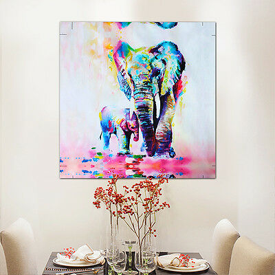 watercolor elephant oil painting