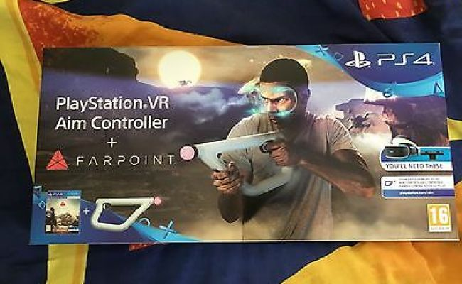 Playstation 4 Vr Aim Controller And Farpoint Game For Sony