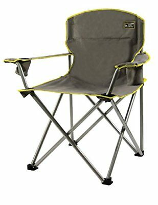 portable picnic chair desk chairs for teens heavy duty folding beach camping outdoor seat lawn grey