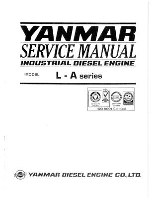 YANMAR INDUSTRIAL DIESEL Workshop / Service Manual On Cd