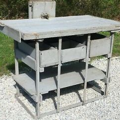 Kitchen Workbench The Home And Store Antique 1900s Primitive Farm Island Vtg Table Desk Industrial