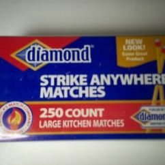 Kitchen Matches Irish Blessing Vintage Diamond Strike Anywhere Large Red White Tip New