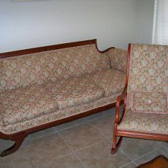 Sofa Rocking Chair Stretch Slipcovers Antique Duncan Phyfe With Matching 750 00