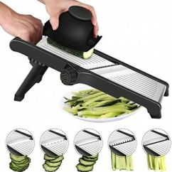 Kitchen Mandoline Collapsible Table Cacacook Stainless Steel Slicer Adjustable Food Mandolin For