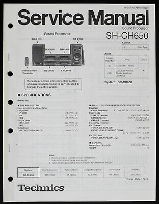 TECHNICS SH-CH650 SYSTEM Service Manual Factory Original