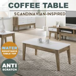 Modern Light Oak Living Room Furniture Blue With Brown Sven Coffee Table W Drawer Scandinavian Meya White