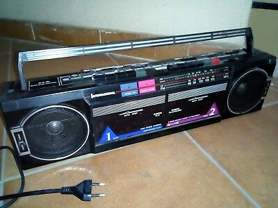 INTERNATIONAL AK21 RADIO Double Cassette Boombox eighties 80s ...