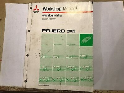 pajero electrical wiring diagram magnetic motor starter used oem mitsubishi did engine control unit immo off mk386858 diagrams workshop manual supplement 2005